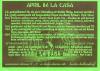 Monatsflyer für den April 2004