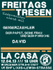 Flyer zum Freitagstresen am 12. April 2013